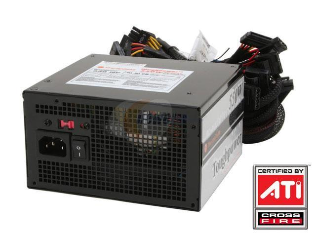 Thermaltake Toughpower W0097RU 550W ATX 12V  Ver2.0 SLI Ready CrossFire Ready Power Supply