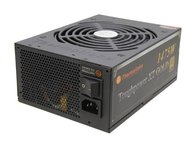 Thermaltake Toughpower XT TPX-1475M 1475W ATX 12V 2.3 & SSI EPS 12V 2.92 SLI Ready CrossFire Ready 80 PLUS GOLD Certified Modular Active PFC Power Supply