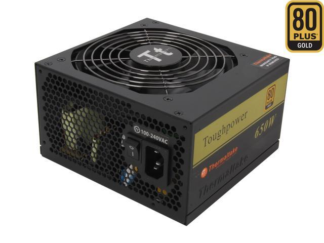 Thermaltake Tough Power TP-650P 650W ATX 12V 2.3 & SSI EPS 12V 2.92 SLI Ready CrossFire Ready 80 PLUS GOLD Certified Active PFC Power Supply
