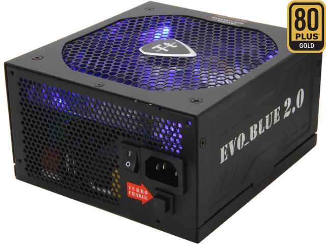 Thermaltake EVO-Blue Series EVO-650MPCGUS 650W ATX 12V 2.3 & EPS 12V 2.92 SLI Certified CrossFire Ready 80 PLUS GOLD Certified Modular Active PFC Power Supply