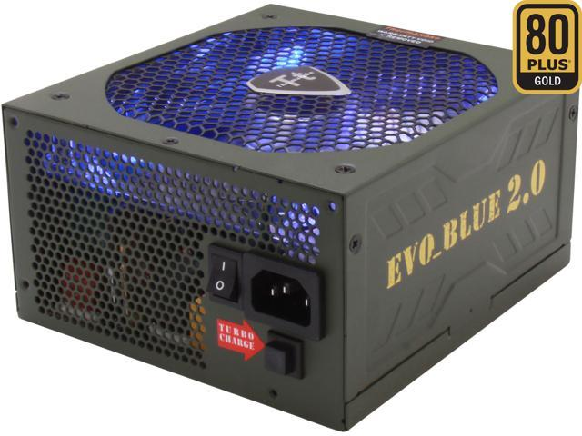 Thermaltake EVO BLUE 2.0 EVO-850MPCGUS-A 850W ATX12V / EPS12V SLI Certified CrossFire Ready 80 PLUS GOLD Certified Modular Active PFC Power Supply