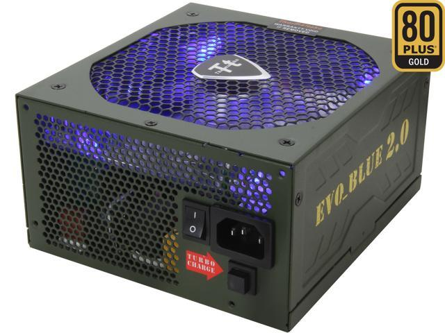 Thermaltake EVO BLUE 2.0 EVO-750MPCGUS-A 750W ATX12V / EPS12V SLI Certified CrossFire Ready 80 PLUS GOLD Certified Modular Active PFC Power Supply