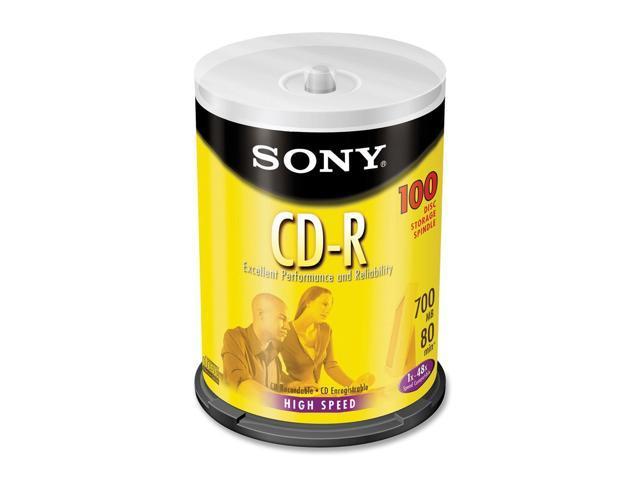 SONY 700MB 48X CD-R 100 Packs Disc Model 100CDQ80RS