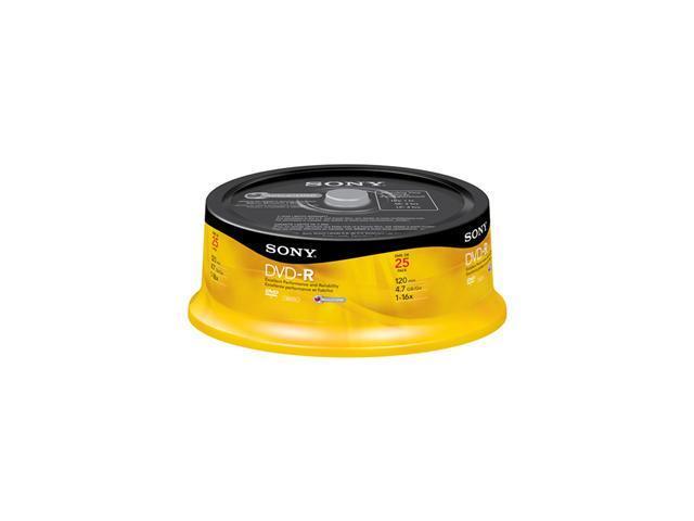 SONY 4.7GB 2X DVD-RW 25 Packs Disc Model 25DMW47RS2