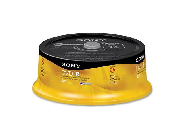 SONY 4.7GB 16X DVD-R 25 Packs Disc Model 25DMR47RS4