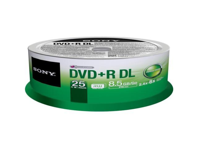 Sony DVD Recordable Media - DVD+R DL - 8.50 GB - 25 Pack