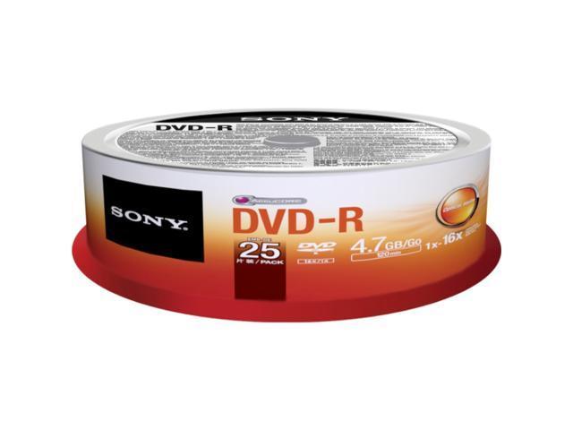 SONY 4.7GB 16X DVD-R 25 Packs Disc