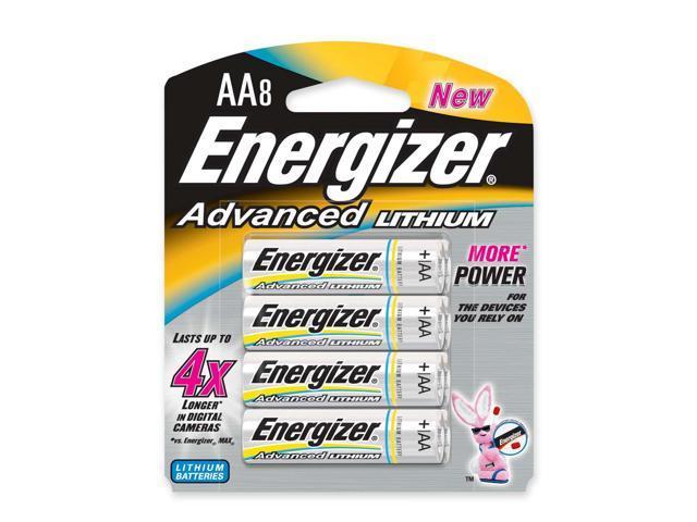 Energizer EA91BP-8 8-pack AA Lithium Batteries