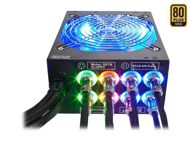 Rosewill LIGHTNING-1300 - 1300-Watt Modular, Active PFC Power Supply - Continuous @ 122 Degrees F (50C), 80 PLUS Gold, ATX 12V v2.31 & EPS 12V v2.92, Intel Haswell, SLI & CrossFire-Ready