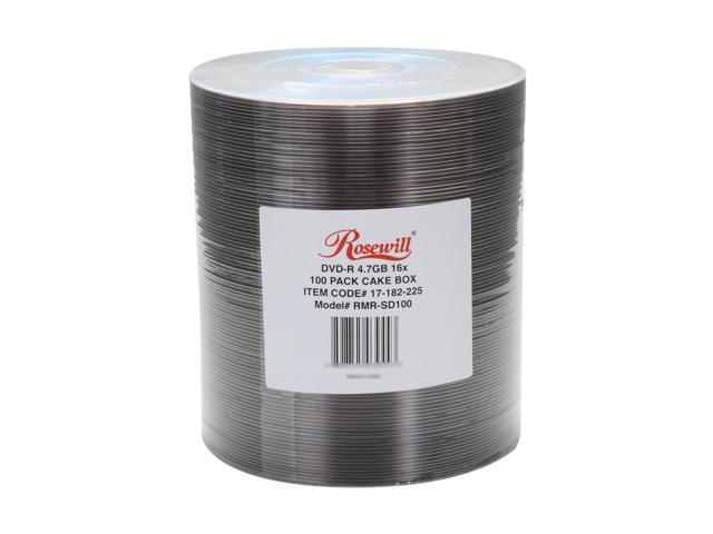 Rosewill 4.7GB 16X DVD-R 100 Packs Disc Model RMR-SD100