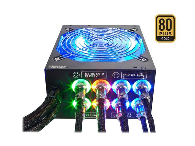 800-Watt Modular, Active PFC 80 PLUS Gold, ATX 12V Power Supply LIGHTNING - Intel Haswell, SLI & CrossFire Ready from Rosewill