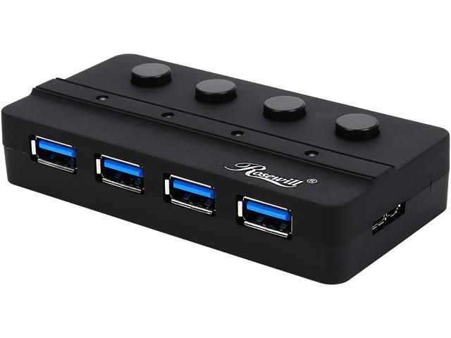 Rosewill RHB-346 USB 3.0 4 Ports Hub with Individual Power Switch