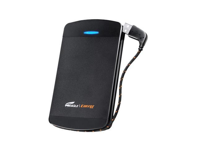 EAGLE ET-CS2PSU2-BK Black External Enclosure with built-in USB cable
