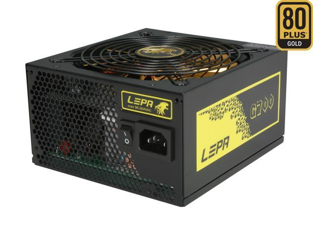 LEPA G700-MA 700W SLI Ready CrossFire Ready 80 PLUS GOLD Certified Modular Active PFC Power Supply