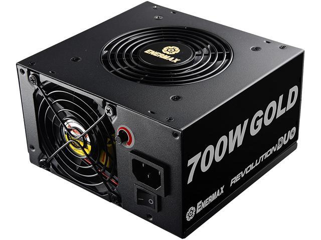 ENERMAX Revolution DUO 700W ERD700AWL-F ATX12V / EPS12V 80+ GOLD Certified Power Supply with Patented FMA (Fan-speed Manual Adjustment) Technology