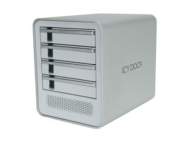ICY DOCK MB561US-4S-1 Aluminum HDD Enclosure for Mac & PC