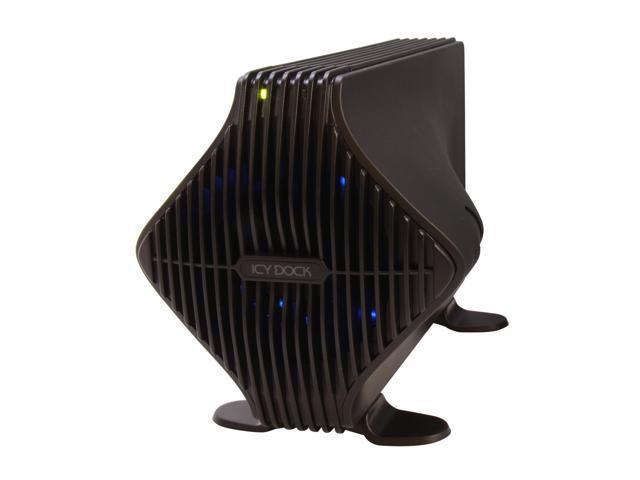 """ICY DOCK MB080USEB-1SB Blizzard Tool-Less FireWire 800, eSATA & USB External 3.5"""" SATA Hard Drive Enclosure with 80mm Fan - Retail"""