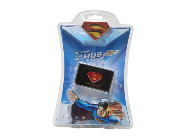 i-rocks Superman Returns SP-4000-BK High Speed 4 Port USB HUB