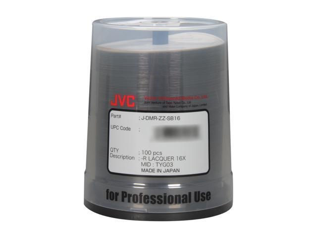JVC 4.7GB 16X DVD-R Thermal Printable 100 Packs Disc Model JDMR-ZZ-SB16