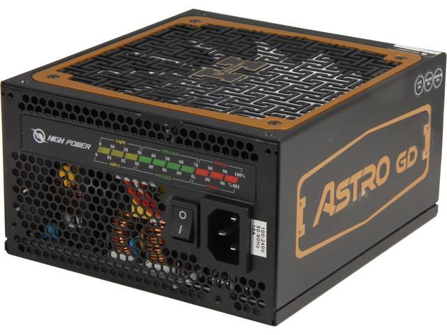 High Power Astro GD HPA-650GD-F14C 650W Digital ATX 12V v2.31 and EPS v2.92 SLI Ready CrossFire Ready 80 PLUS GOLD Certified Modular Active PFC Power Supply