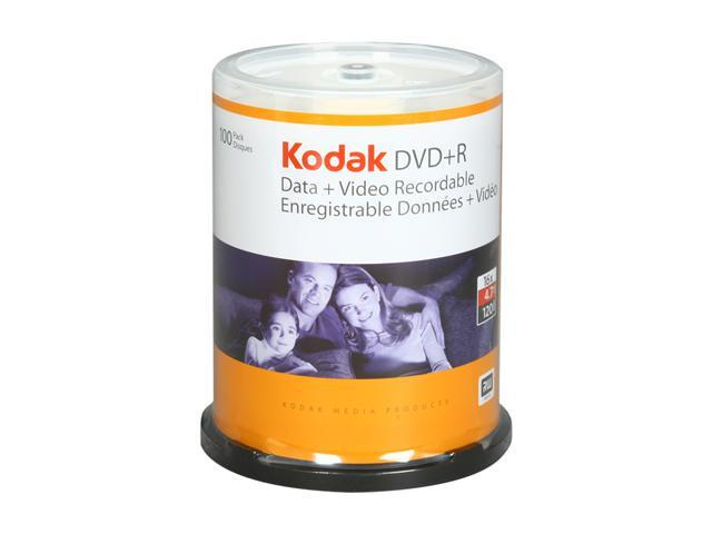 Kodak 4.7GB 16X DVD+R 100 Packs Disc Model 50600