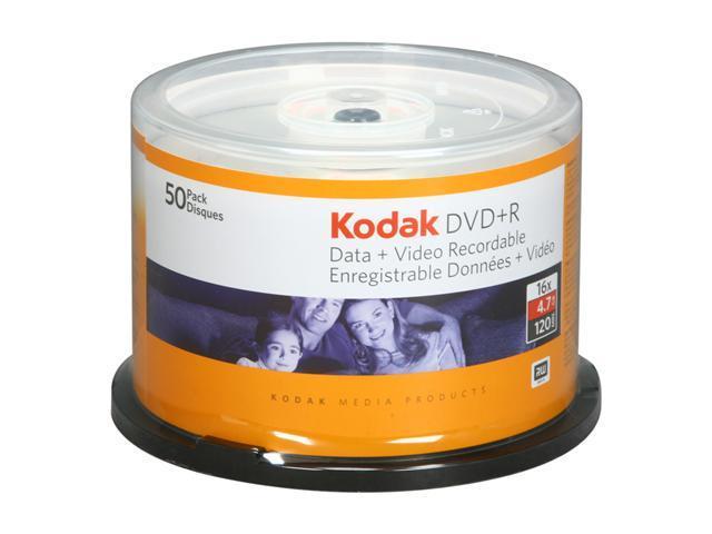Kodak 4.7GB 16X DVD+R 50 Packs Disc Model 50650