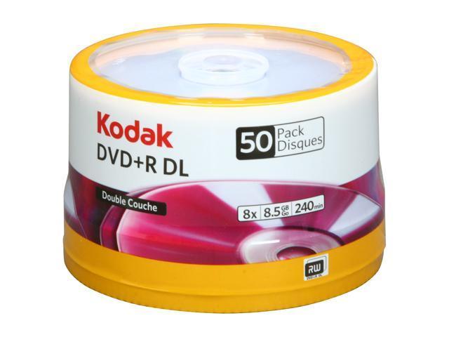 Kodak 8.5GB 8X DVD+R DL 50 Packs Disc Model 50121