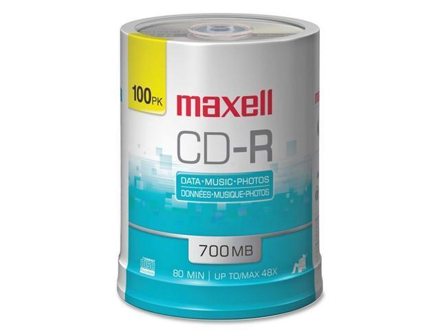 maxell 700MB 48X CD-R 100 Packs Disc Model 648200 - OEM