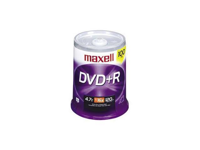 maxell 4.7GB 16X DVD+R 100 Packs Disc Model 639016