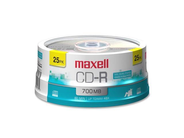 maxell 700MB 48X CD-R 25 Packs Media Model 648445