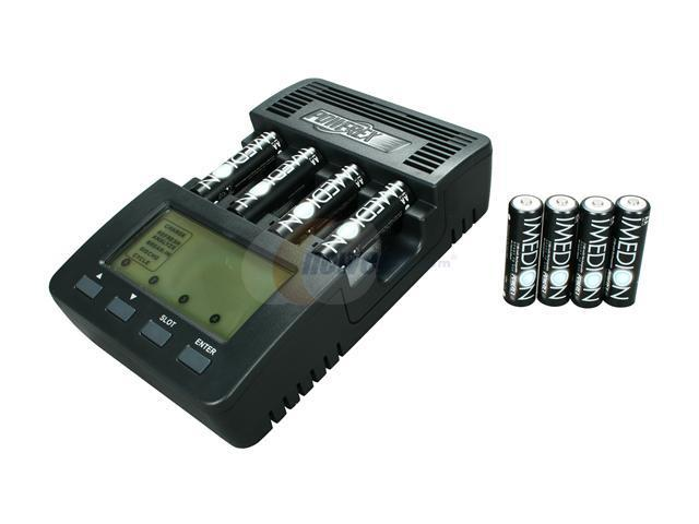 POWEREX MH-C9000 WizardOne Charger-Analyzer w/8pcs 2400mAh AA IMEDION Pre-charged and Ready-to-use  Rechargeable Batteries