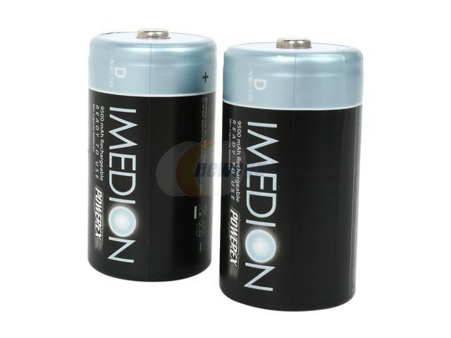 Maha MHRDI2 2-pack 9500mAh Size D Pre-charged and Ready To Use Rechargeable Batteries