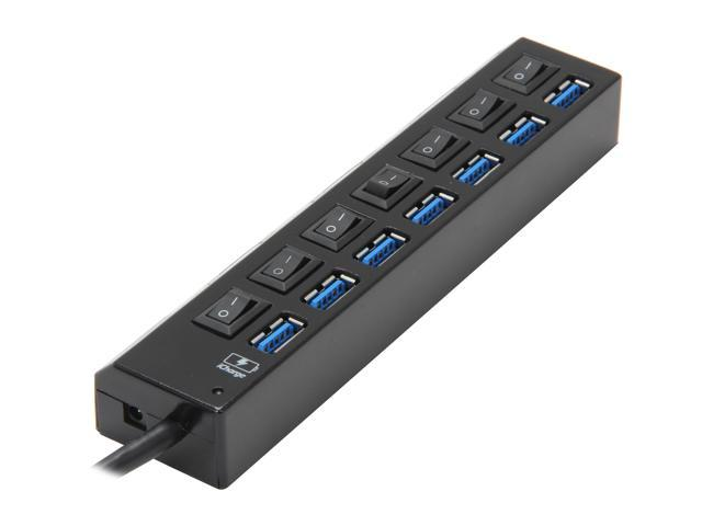Koutech IO-HU730 7-Port SuperSpeed USB 3.0 External Hub with ON/OFF Switch