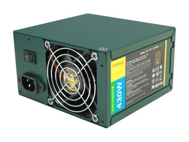 Antec EarthWatts Green EA-430D Green 430W Continuous power ATX12V v2.3 / EPS 12V 80 PLUS BRONZE Certified Active PFC Power Supply