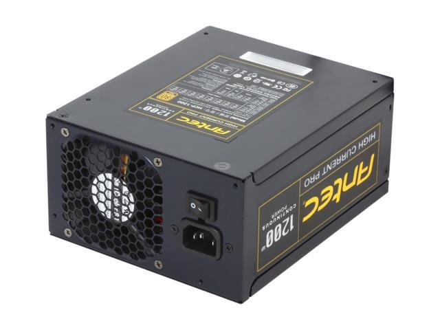 Antec High Current Pro HCP-1200 1200W ATX12V / EPS12V SLI Ready 80 PLUS GOLD Certified Yes, High Current Hybrid Cable Management Active PFC Power Supply - Intel Haswell Fully Compatible