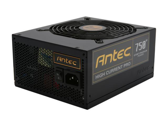 High Current Pro HCP-750 750W TX12V v2.3 / EPS12V v2.92 SLI Certified CrossFire Certified 80 PLUS GOLD Certified Modular Active PFC Power Supply - Intel Haswell Fully Compatible