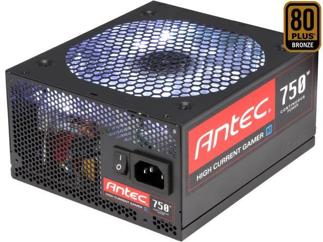Antec HCG M HCG-750M 750W ATX12V SLI Ready CrossFire Certified 80 PLUS BRONZE Certified Modular Active PFC Power Supply