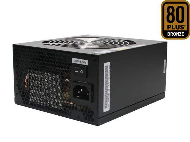 ZALMAN ZM500-HP 500W Continuous @ 45°C ATX12V V2.2 / EPS12V V2.91 SLI Certified CrossFire Ready 80 PLUS BRONZE Modular Active PFC Modular LED Heatpipe-Cooled SLI Power Supply