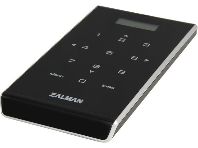 "Zalman VE400 Black / Silver 2.5"" HDD Enclosure with Built in Virtual Drive and 9 Digit Keypad Security Feature."