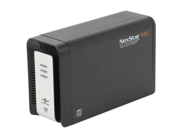 VANTEC NexStar MX NST-400MX-SR Black Dual Bay External Enclosure