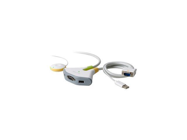 BELKIN F1DF102U Flip 2-Port KVM w/ Remote