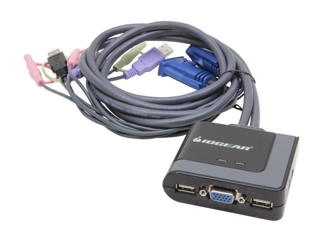 IOGEAR GCS642U 2-Port USB Cable KVM Switch with File Transfer