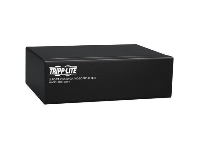 Tripp Lite B114-002-R VGA/SVGA 350MHz Video Splitter - 2 Port (HD15 M/2xF)