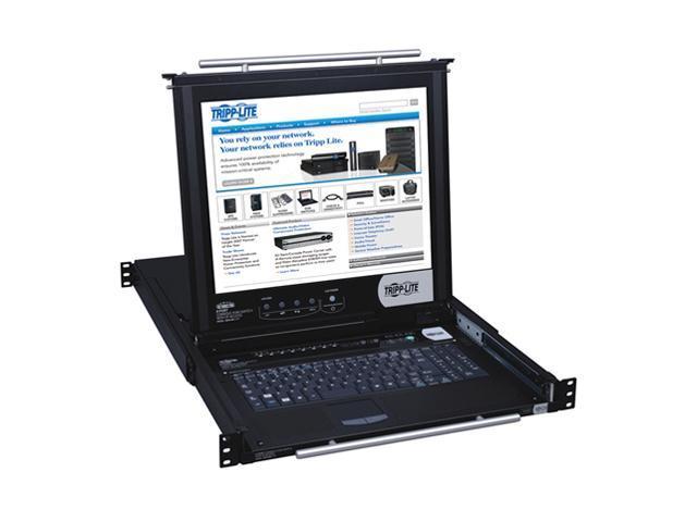 "TRIPP LITE B020-008-17-IP 8-Port IP NetDirector 1U Rackmount Console KVM Switch w/17"" LCD"