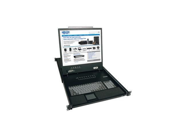 Tripp Lite 8-Port 1U Rack-Mount Console KVM Switch with 19-in. LCD, PS/2 or USB, VGA, TAA (B040-008-19)