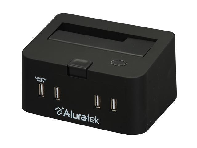 Aluratek AHDDS100F External Docking Enclosure with 3Port USB 2.0 Hub