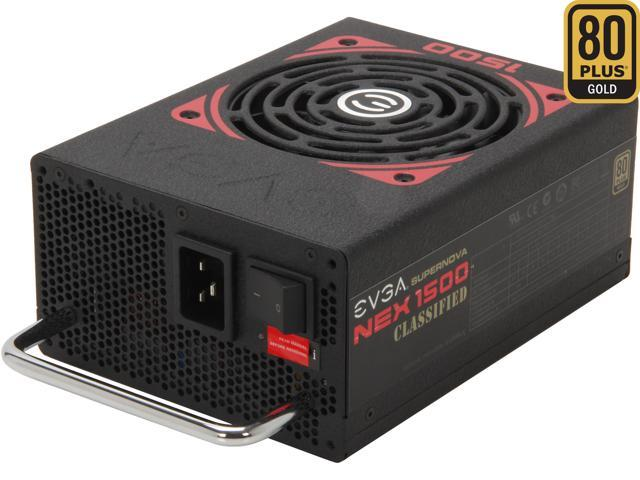 EVGA SuperNOVA NEX 1500 Classified 80 PLUS GOLD Certified 1500W Active PFC ATX12V v2.31/EPS 12V v2.91 SLI Ready CrossFire Ready Full Modular PSU 5 Year Warranty 120-PG-1500-VR Haswell Ready