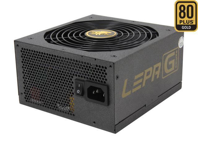 LEPA G Series G750-MAS 750W ATX12V / EPS12V SLI Ready CrossFire Ready 80 PLUS GOLD Certified Modular Active PFC Power Supply