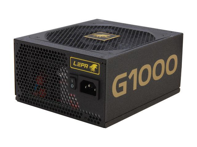 LEPA G1000-MA 1000W ATX12V / EPS12V SLI Ready CrossFire Ready 80 PLUS GOLD Certified Modular Power Supply