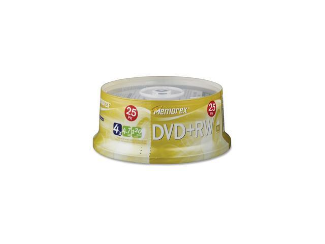 memorex 4.7GB 4X DVD+RW 25 Packs Disc Model 05541
